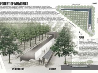STW Architect is second of 475 entries for NYC AIDS Memorial Park Competition.
